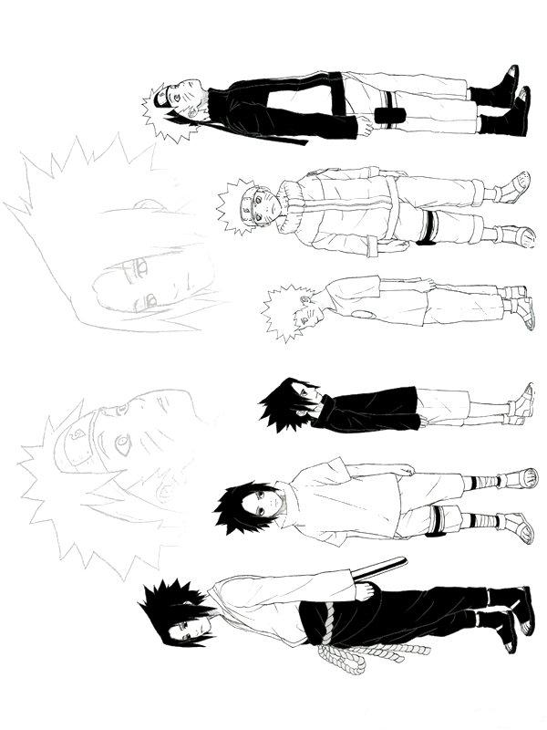 Sasuke and Naruto: The Ages by Ilovevampires4 on DeviantArt