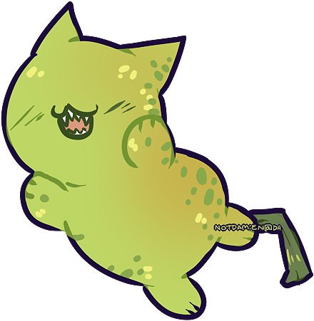 The Biting Pear of Salamanca but as a cat by NotDamien
