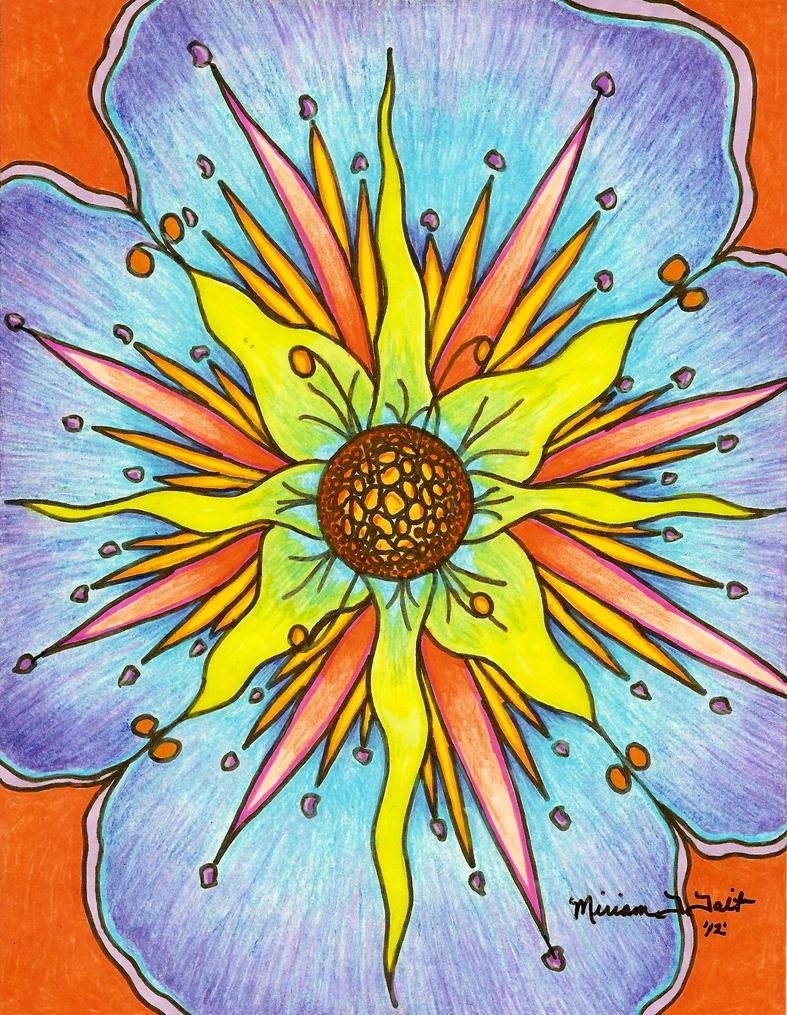 op art floral graphics - photo #14
