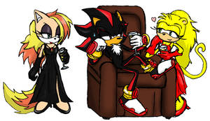 Shadow, Claire and Zita by RaianOnzika