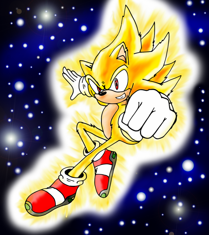 how to draw super sonic easy