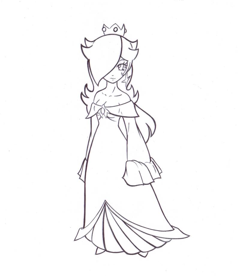 Princess Rosalina Coloring Pages : Princess rosalina coloring page imgkid the