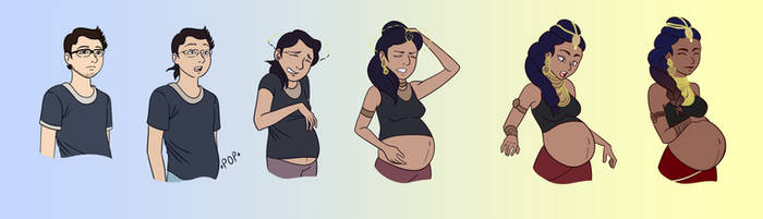 Handsome to Glowing: Expectant Mommy TF TG TR by Kimeria87