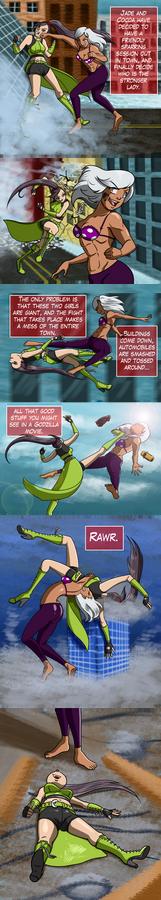 GIANTESS CATFIGHT: Jade vs Cocoa McCloud