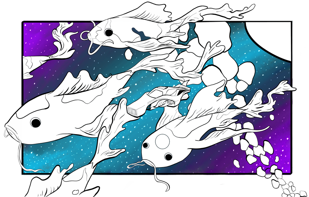 Koi Fish in space
