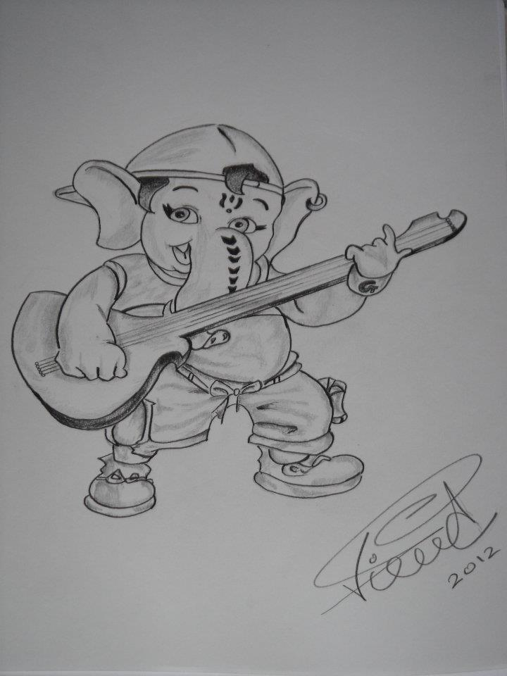 Ganesha rapper sketch by saintvinod