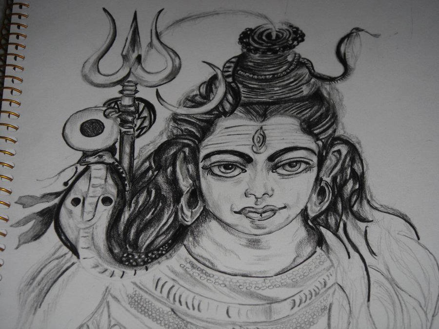Lord Shiva Sketch I by saintvinod on DeviantArt