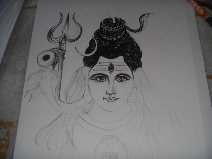 Lord shiva sketch ii work in progress by saintvinod