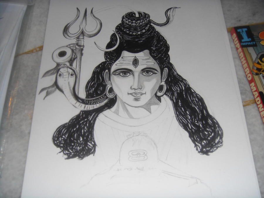 Lord Shiva Sketch Ii Work In Progress 2 By Saintvinod On Deviantart
