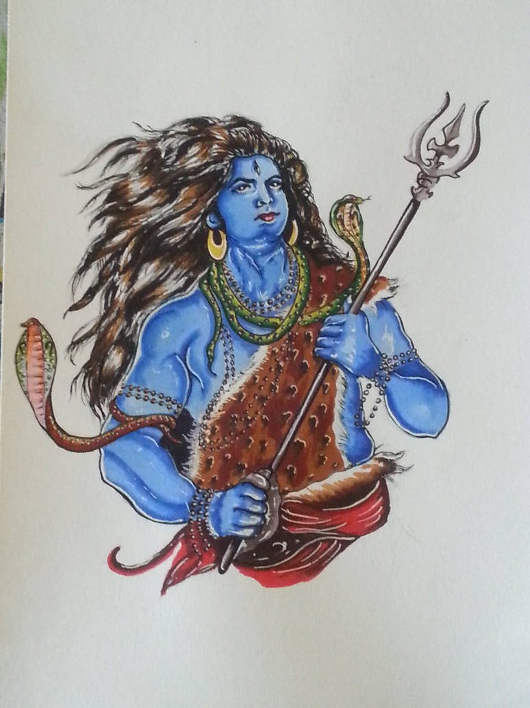 Lord Shiva Sketch By Saintvinod On Deviantart