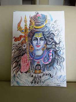 Lord Shiva Watercolour Painting