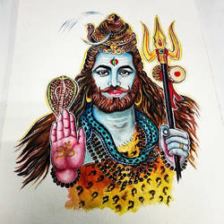 Lord Shiva, Bearded Version Painting