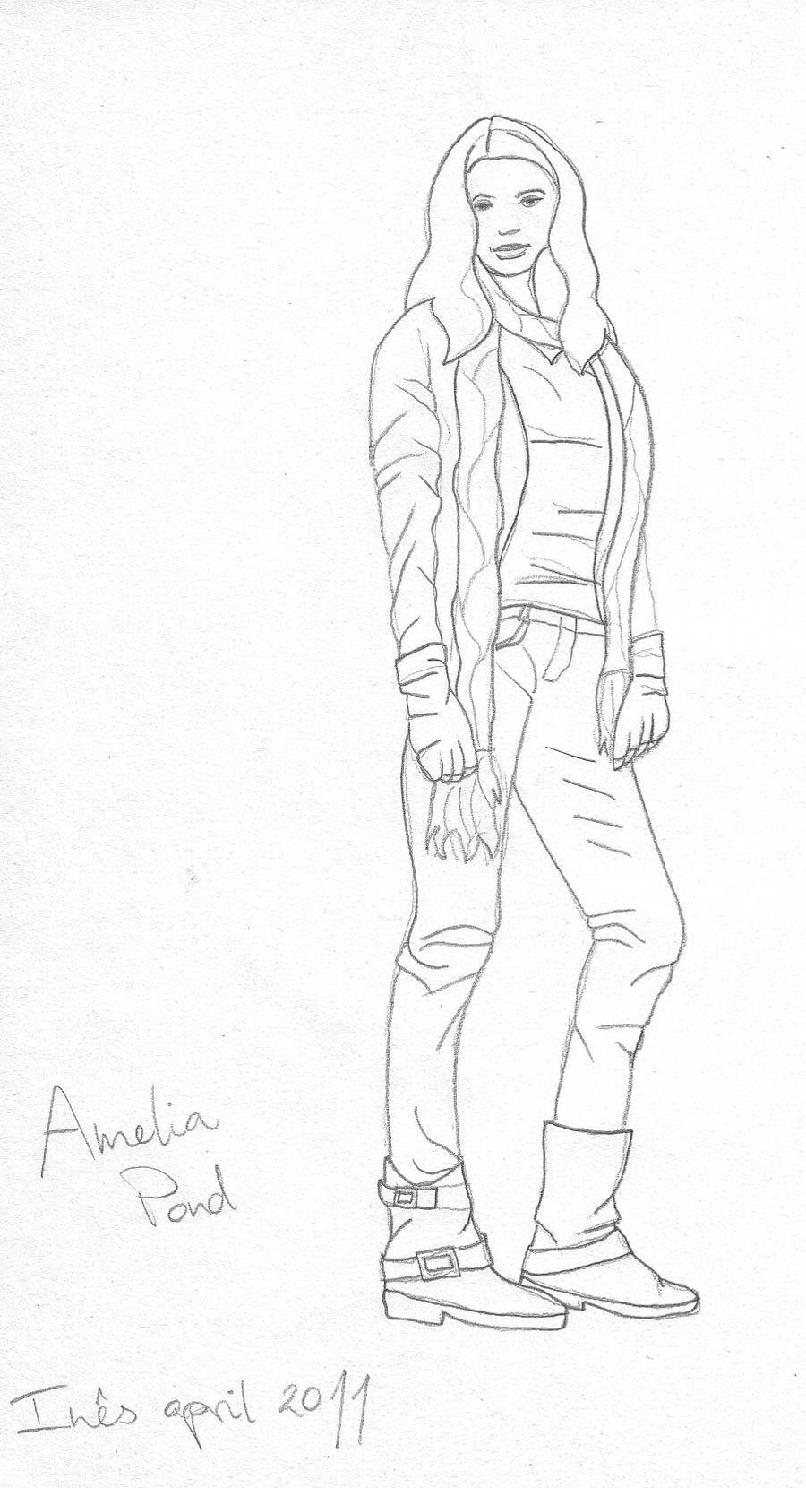 Amelia Pond Sketch By Happinesfactory On Deviantart