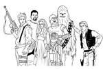 Firefly Star Wars - Lineart