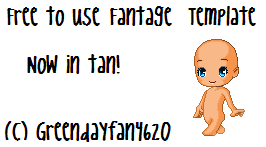 Fantage Body Template by greendayfan4620