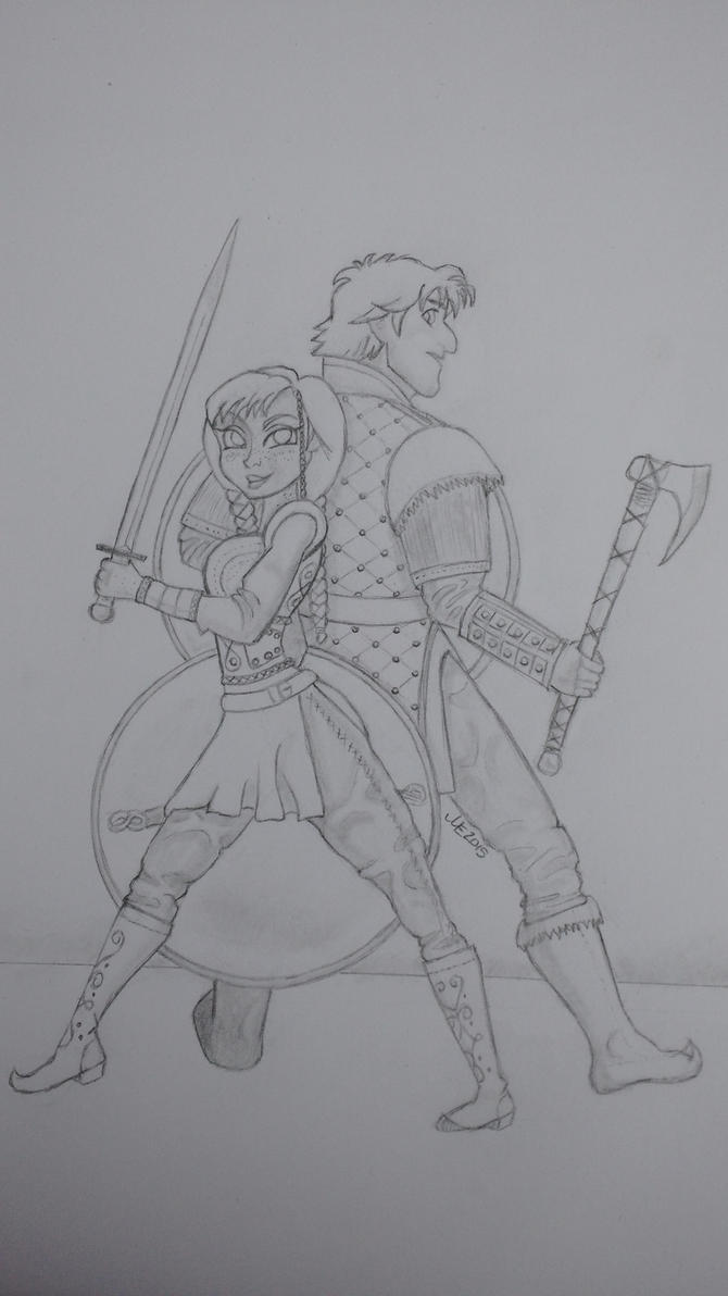 Viking Kristoff and Anna by Frenzy5150