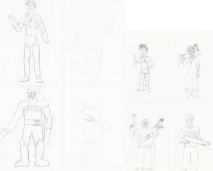 Overwatch Poses - Copy versus Cartoon by BrotherMirtillo