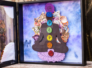 At Peace in Continuity Opened Shadow Box