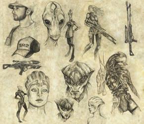 mass effect doodles