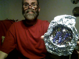 a fake crystal rock i am making