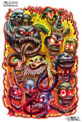Psycho Clowns From Hell by JarrrodElvin