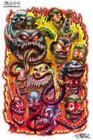 Psycho Clowns From Hell by JarrrodElvin