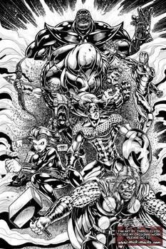 Avengers Fan Art - (Digital) Inks
