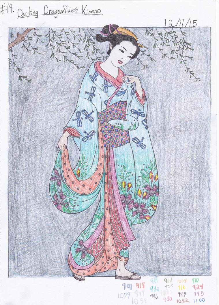 Darting Dragonflies Kimono By AkatsukixSakura15