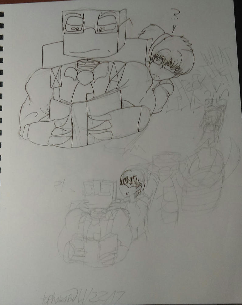 Liam and Lily comic page (WIP) by tophatedfox