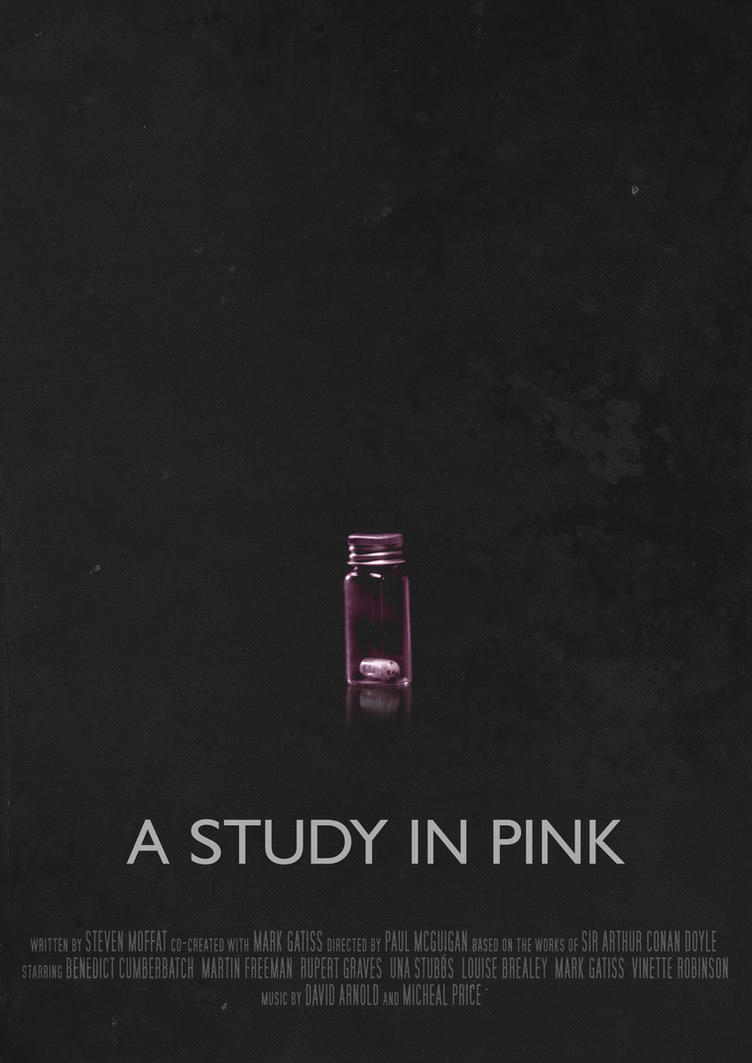 A Study in Pink - Movie Poster by Ashqtara