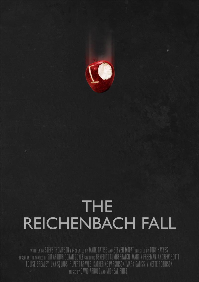 The Reichenbach Fall - Movie Poster by Ashqtara