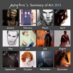 2013 Art Summary by Ashqtara