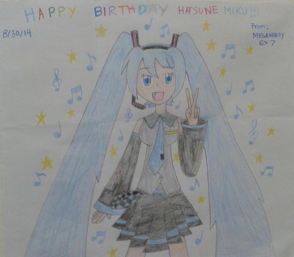 Happy 7th B-day Hatsune Miku! by MegaMikoyEX7