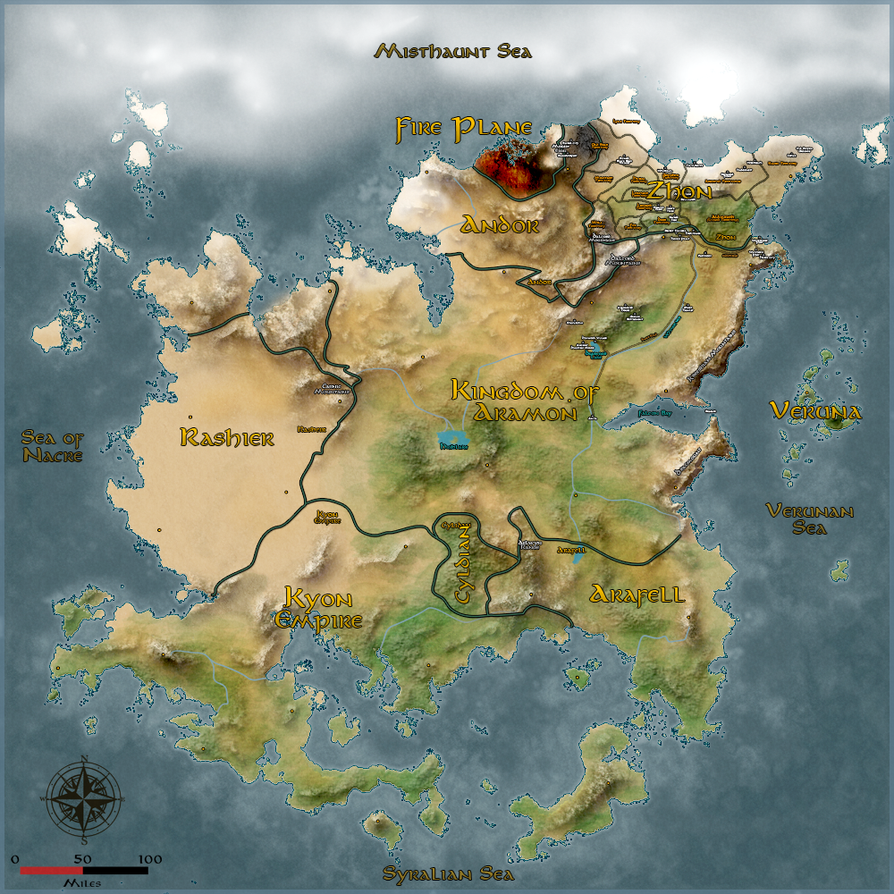 Tirandra Map by ShadowCheetah