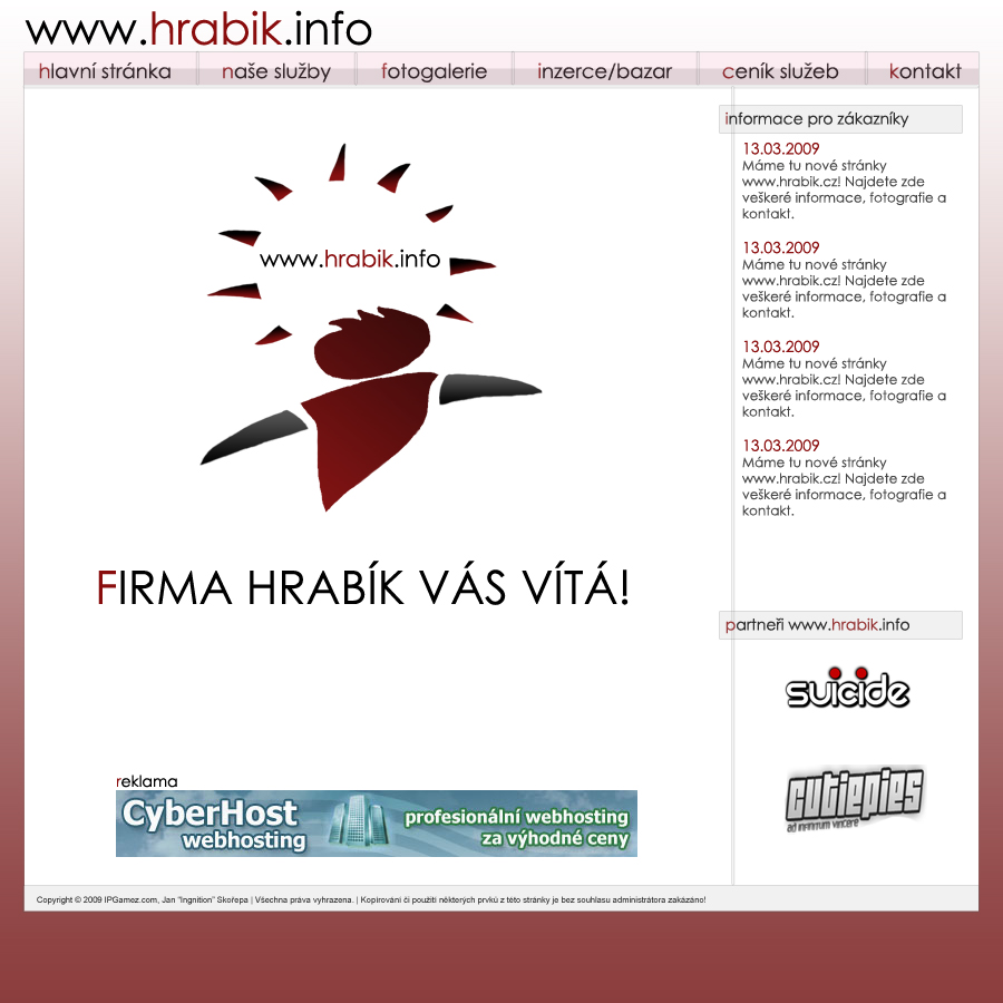 company www.hrabik.info by Ingnition