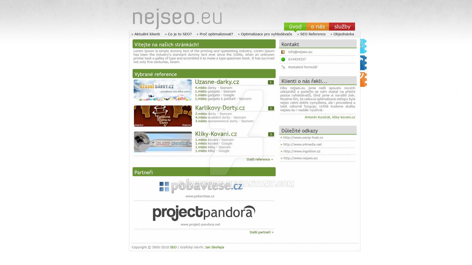 NejSEO.eu - webdesign v2 by Ingnition