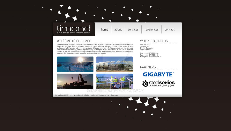 Timond - webdesign a logo by Ingnition