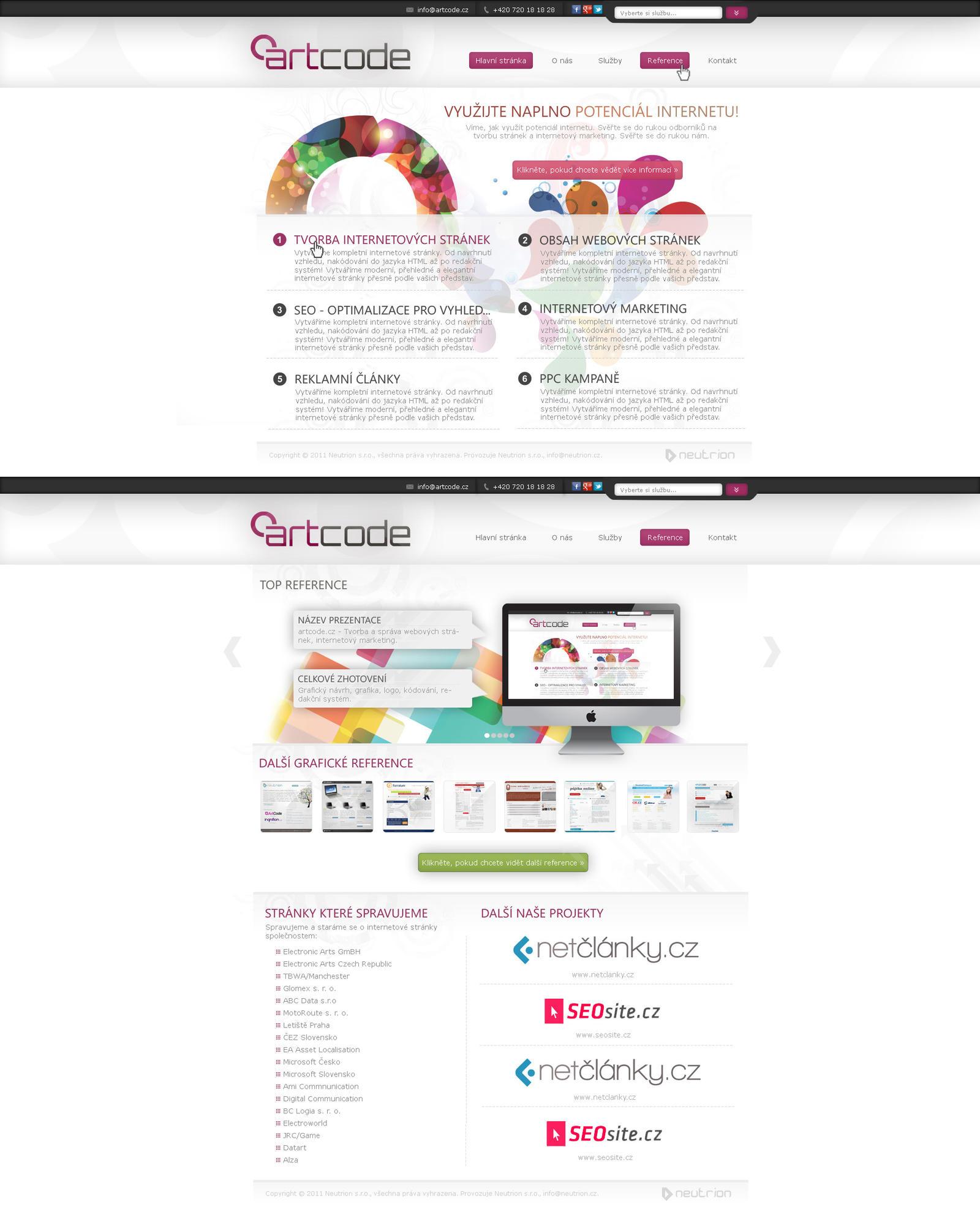 Web studio artcode.cz v2 final by Ingnition