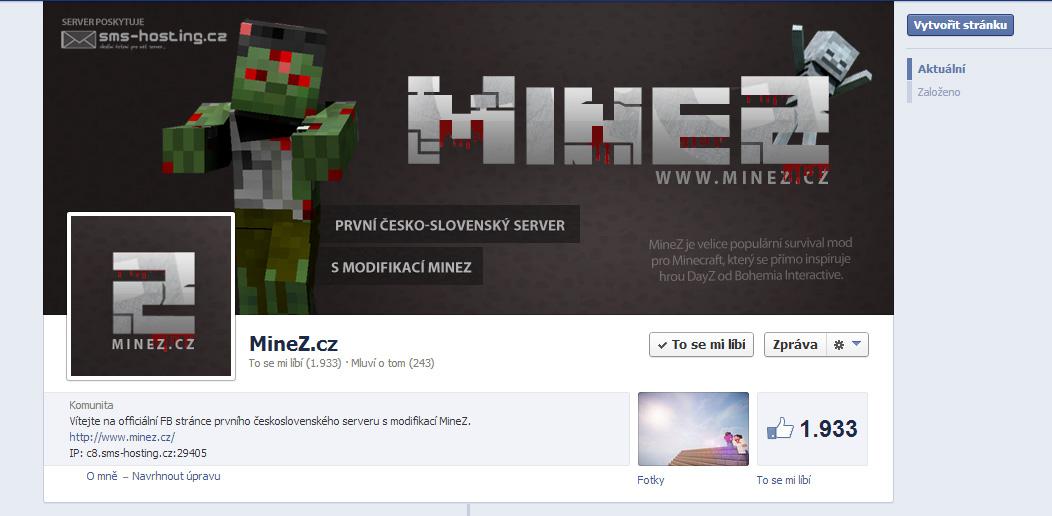 MineZ.cz - FB page by Ingnition