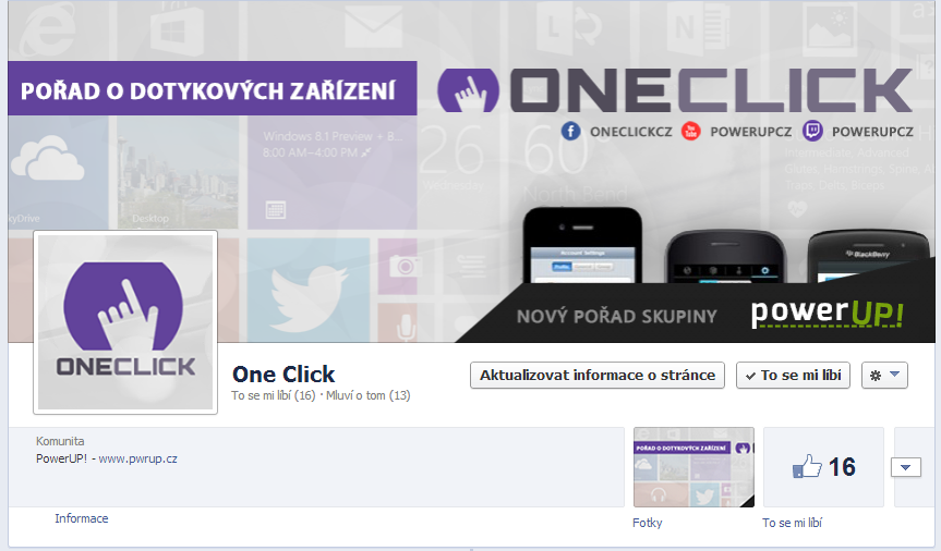 One Click - FB page