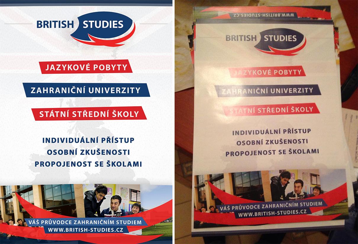 BRITISH STUDIES - Letak A5 predek / Flyer A5 front by Ingnition