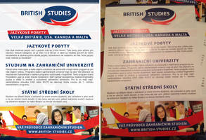 BRITISH STUDIES - Letak A5 zadek / Flyer A5 back by Ingnition