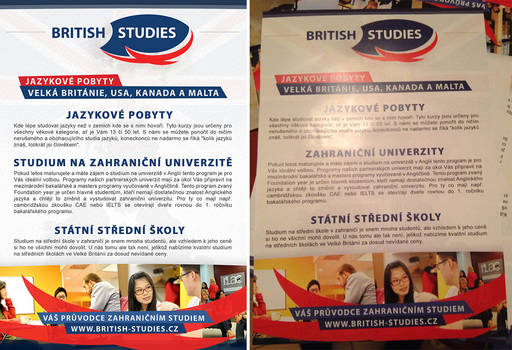 BRITISH STUDIES - Letak A5 zadek / Flyer A5 back