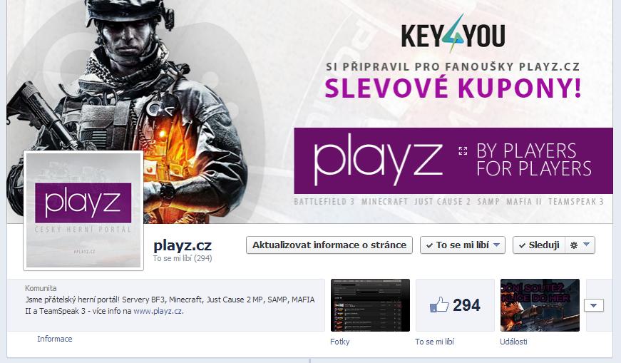 playz.cz - FB page by Ingnition