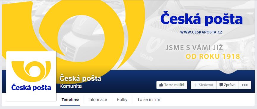 Ceska posta - Czech post - FB page by Ingnition
