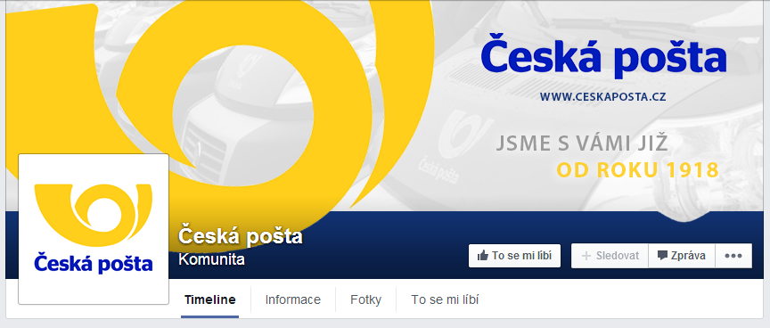 Ceska posta - Czech post - FB page