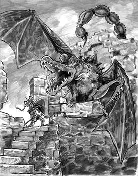 Hero Hynreck and the Dragon Smerg