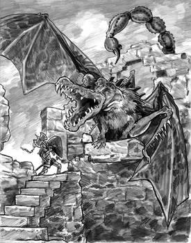 Hero Hynreck and the Dragon Smerg
