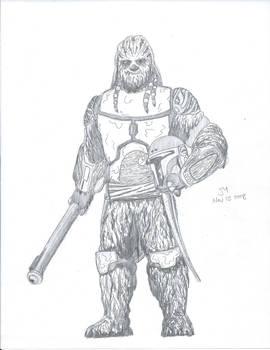 Mandalorian Wookiee Warrior Penc