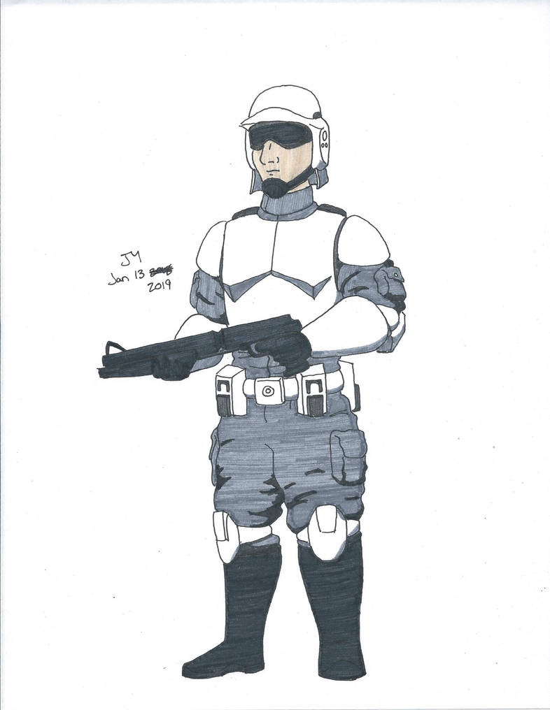 Republic Army Trooper Ink Col By Alldoo On Deviantart